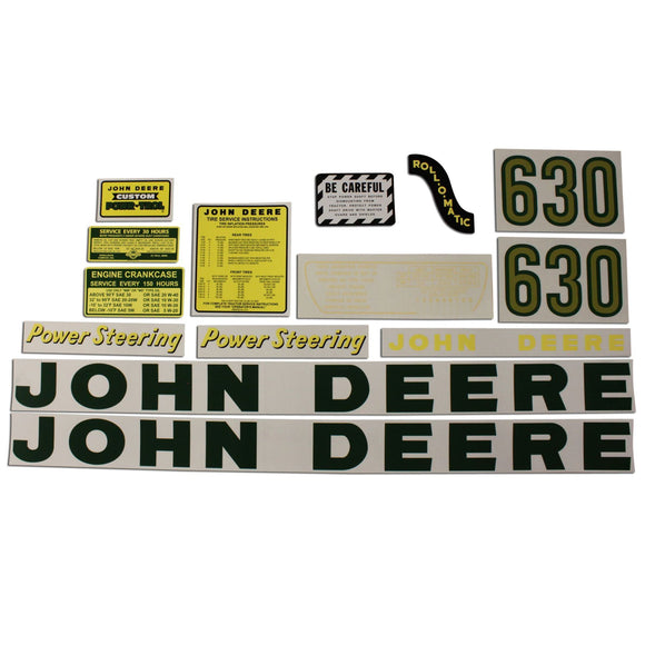 JD 630: Mylar Decal Set - Bubs Tractor Parts