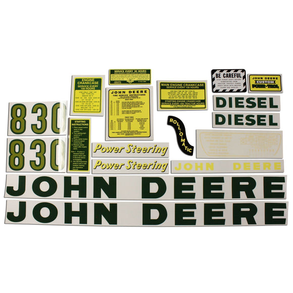JD 830 Diesel: Mylar Decal Set - Bubs Tractor Parts