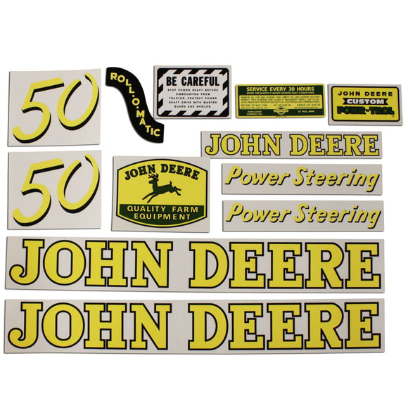 JD 50: Mylar Decal Set - Bubs Tractor Parts