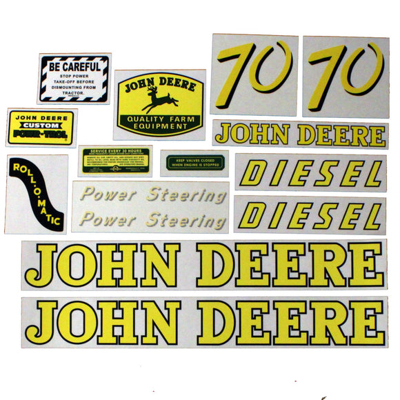JD 70 Diesel: Mylar Decal Set - Bubs Tractor Parts