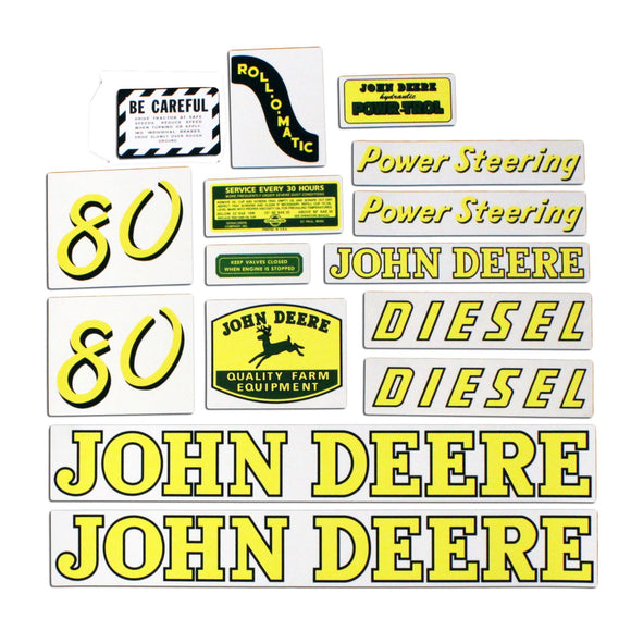 JD 80 Diesel: Mylar Decal Set - Bubs Tractor Parts