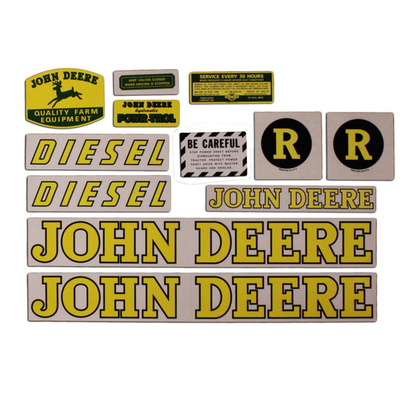JD R: Mylar Decal Set - Bubs Tractor Parts