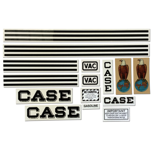 Case VAC: Mylar Decal Set - Bubs Tractor Parts