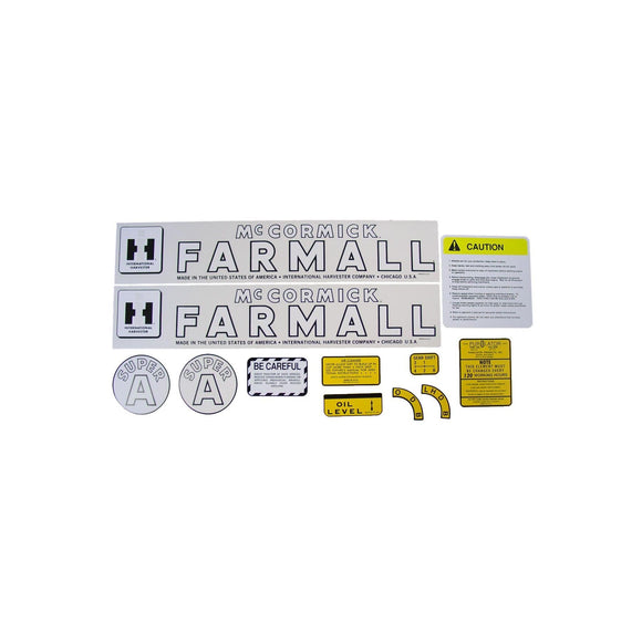 IH Super A 1947-54: Mylar Decal Set - Bubs Tractor Parts