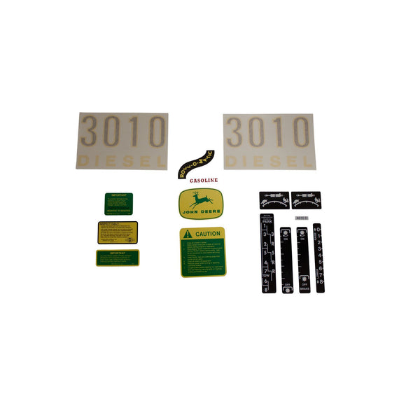 JD 3010 Vinyl Cut Decal Set - Bubs Tractor Parts