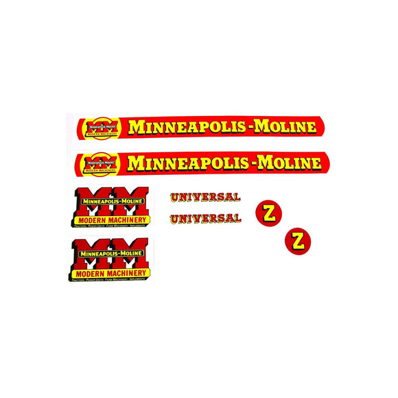 MM Z: Mylar Decal Set - Bubs Tractor Parts