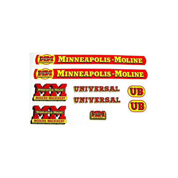 MM UB: Mylar Decal Set - Bubs Tractor Parts