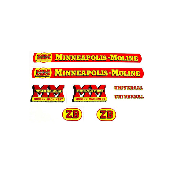 MM ZB: Mylar Decal Set - Bubs Tractor Parts