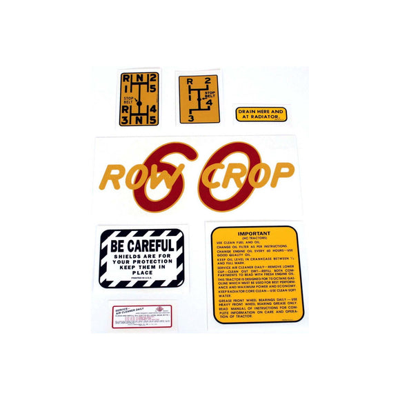 Oliver 60 Rowcrop: Mylar Decal Set - Bubs Tractor Parts