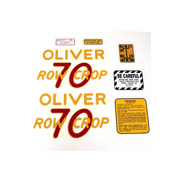 Oliver 70 Rowcrop: Mylar Decal Set - Bubs Tractor Parts