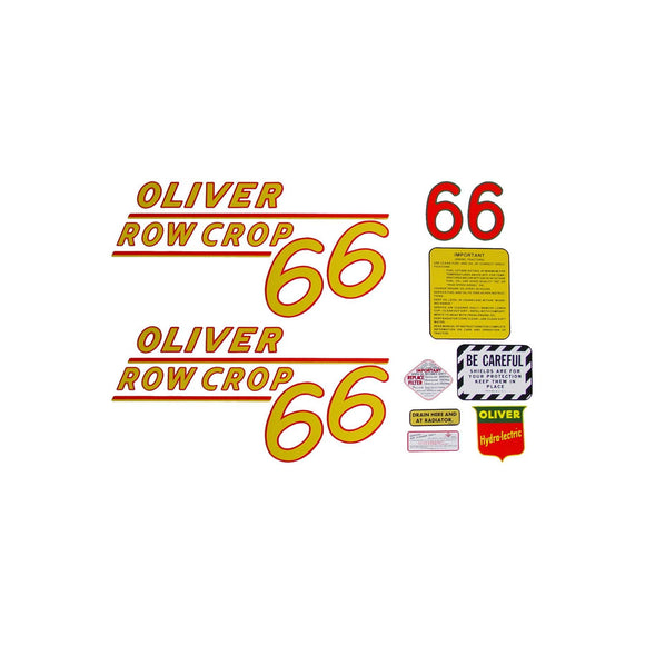 Oliver 66 Rowcrop: Mylar Decal Set - Bubs Tractor Parts