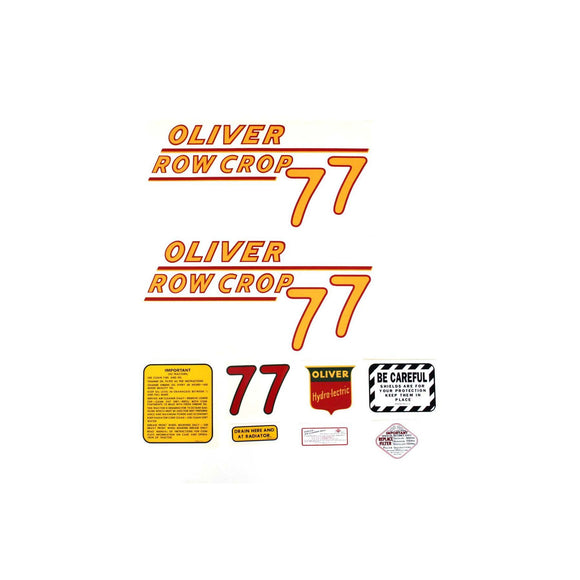 Oliver 77 Rowcrop: Mylar Decal Set - Bubs Tractor Parts