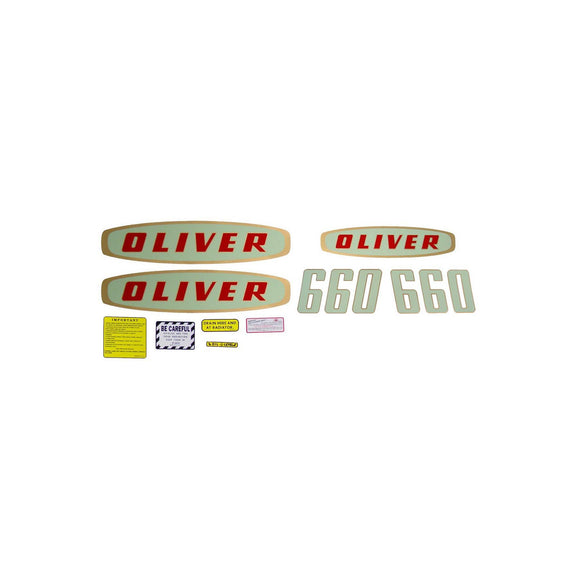 Oliver Early 660 Gas: Mylar Decal Set - Bubs Tractor Parts