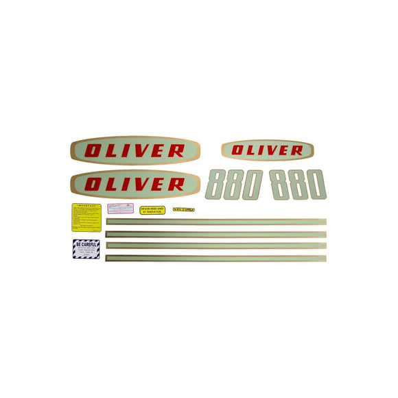Oliver Early 880 Gas: Mylar Decal Set - Bubs Tractor Parts