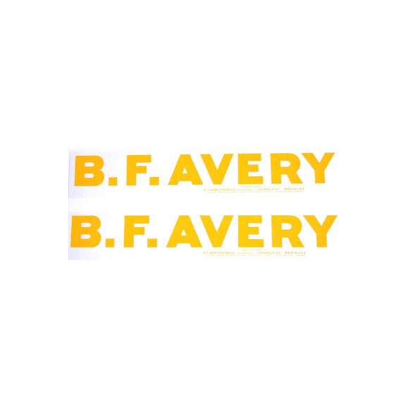 Avery Bf: Mylar Hood Decal, Pair - Bubs Tractor Parts