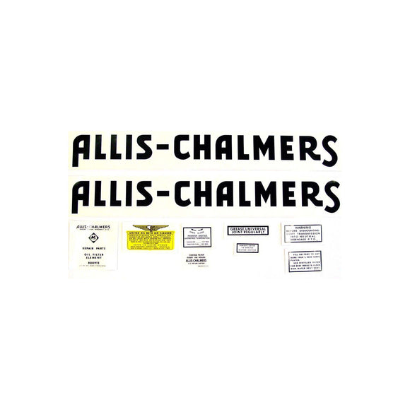 Allis Chalmers, Mylar Decals