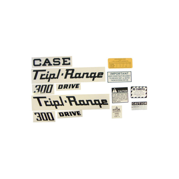 Case 300 Triple Range: Mylar Decal Set - Bubs Tractor Parts