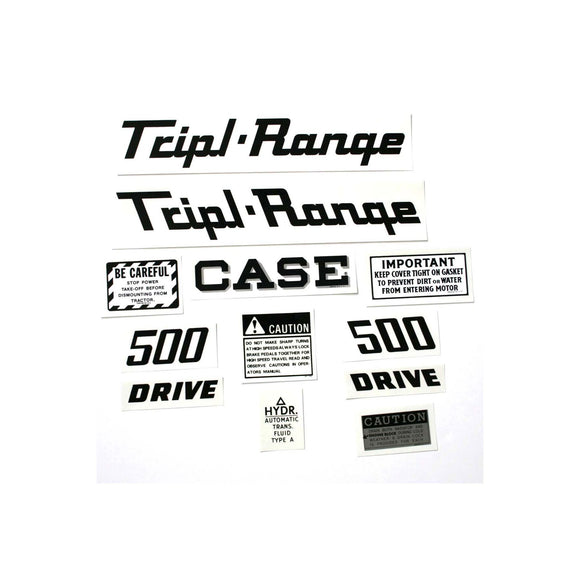 Case 500 Triple Range: Mylar Decal Set - Bubs Tractor Parts