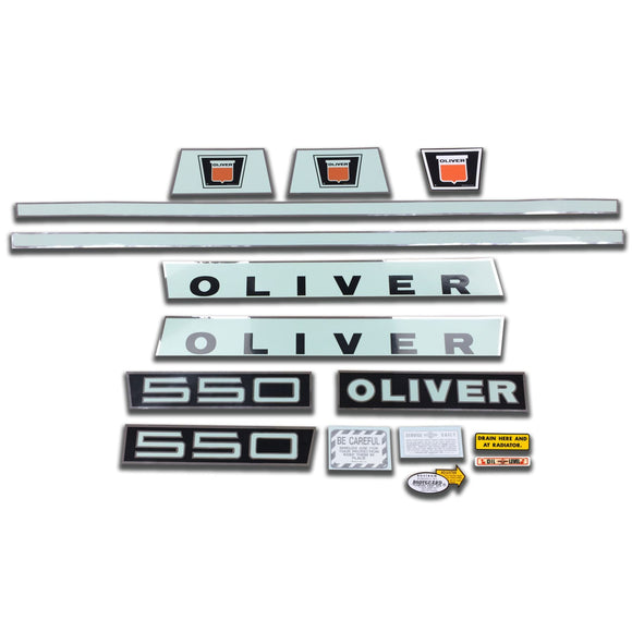 Oliver Late 550: Mylar Decal Set - Bubs Tractor Parts