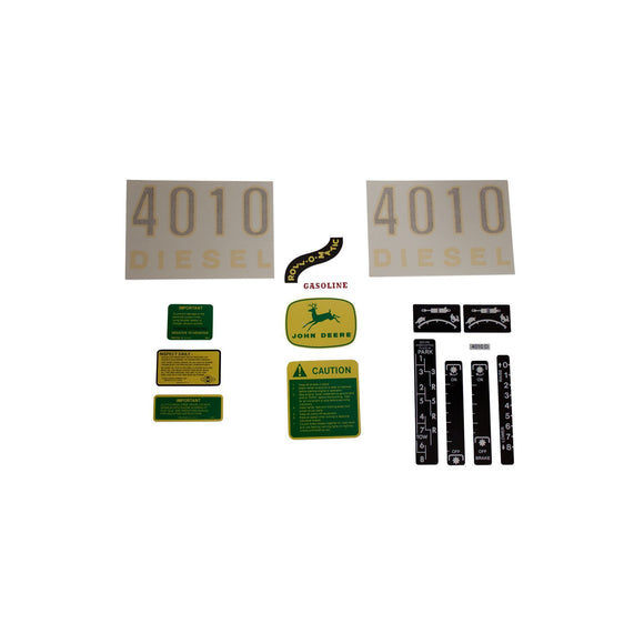 JD 4010 Diesel: Vinyl Cut Complete Set - Bubs Tractor Parts