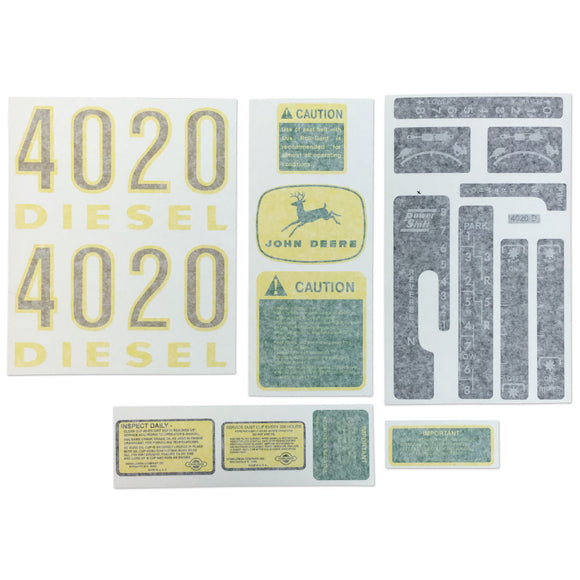 JD 4020 Complete Vinyl Cut Decal Set - Bubs Tractor Parts