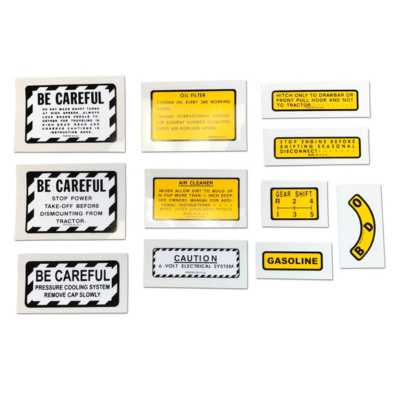 11 Piece Miscellaneous Decal Set (For IH 400, 450 Gas)