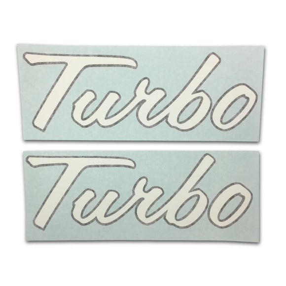 IH 1066, 1256+: Vinyl Cut Turbo Decal Set Of 2