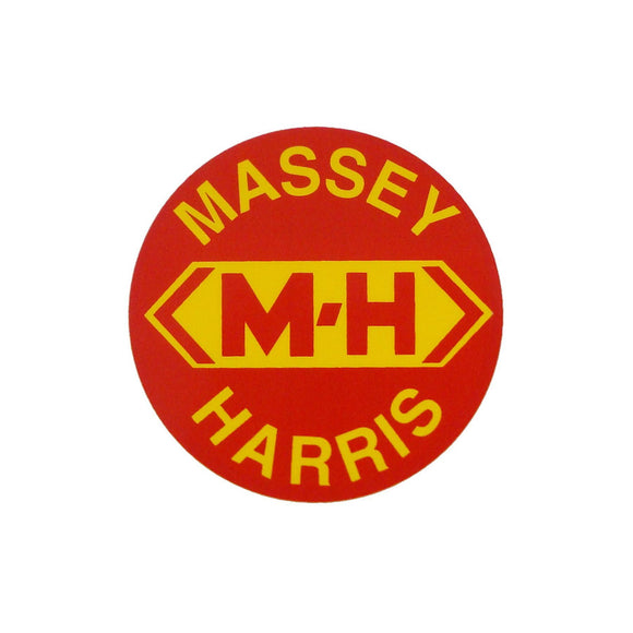 Massey Harris Round Decal - Bubs Tractor Parts