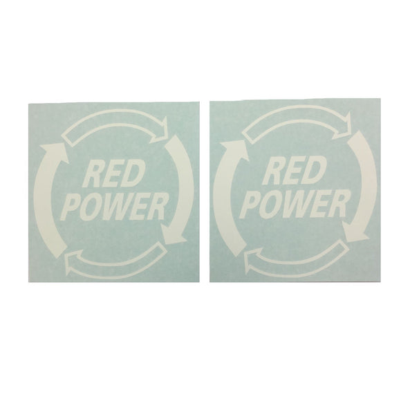 Red Power Decal (Set of 2)