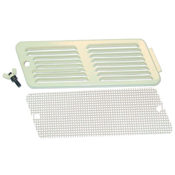 Air Cleaner Grille Door with screen and thumb screw - Bubs Tractor Parts