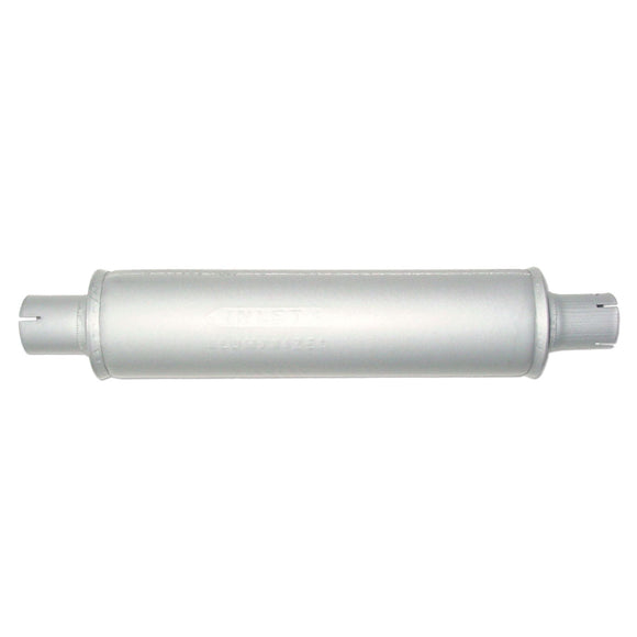Horizontal Round Body Muffler - Bubs Tractor Parts