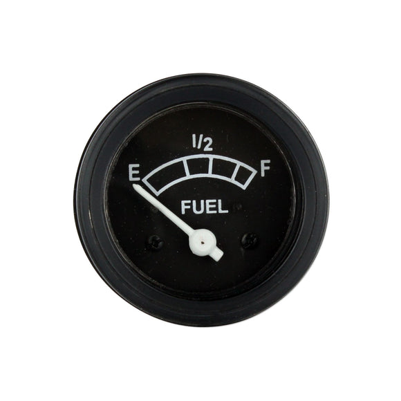 Fuel Gauge With Black Bezel (Positive Ground) - Bubs Tractor Parts