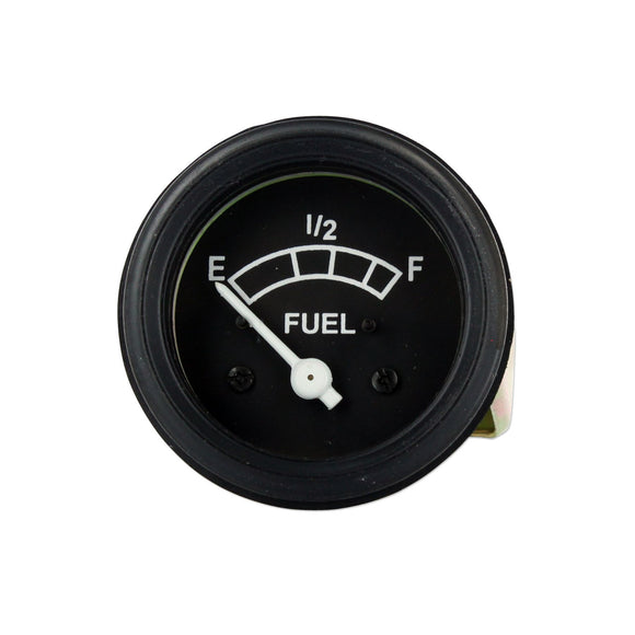 12 Volt Negative Ground Fuel Gauge With Black Bezel - Bubs Tractor Parts