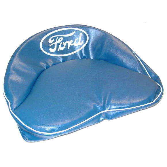 Tractor Seat Pad (Dark blue w/ white piping w/ white