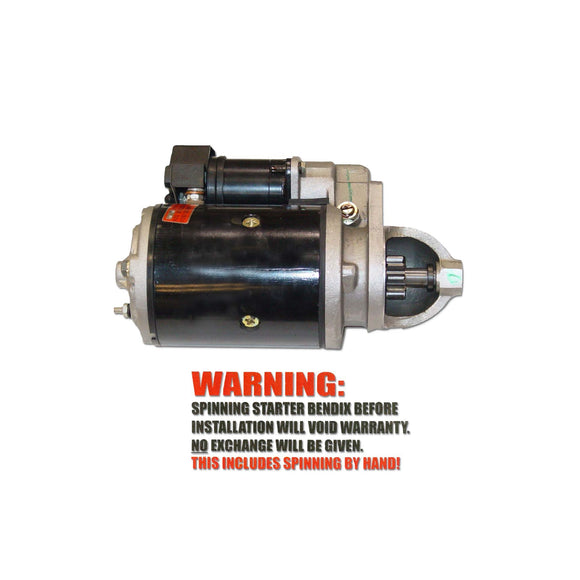 New 12 Volt Starter, fits Diesel engines only - Bubs Tractor Parts