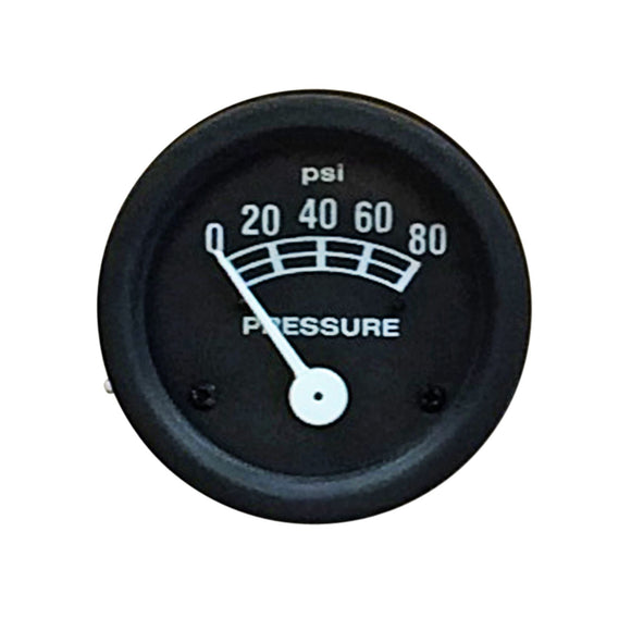 Oil Pressure Gauge (0-80 PSI) - Bubs Tractor Parts