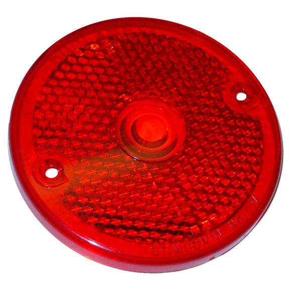 Red Plastic Tail Lite Lense - Bubs Tractor Parts