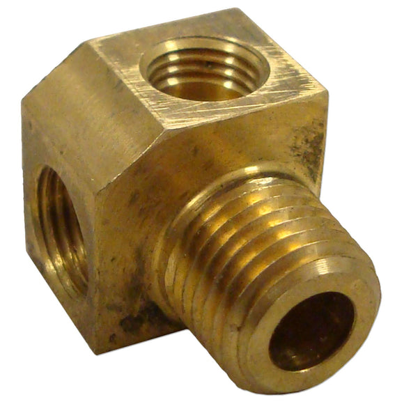 Oil Gauge Elbow Line To Block (Oil Terminal Block) - Bubs Tractor Parts