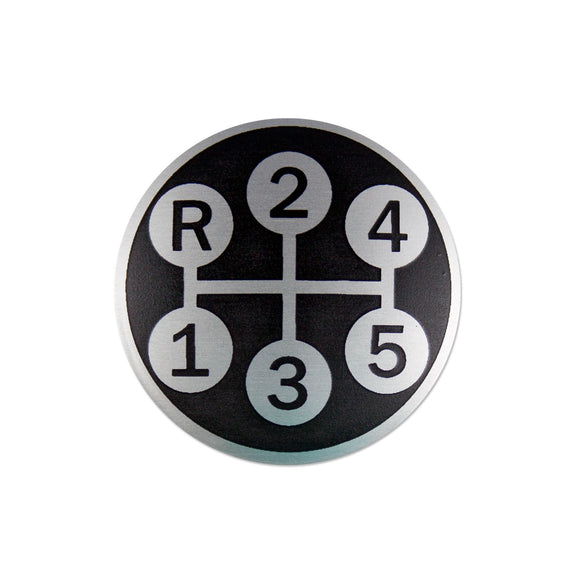 Shift Pattern Insert For Our IHS242 Gear Shift Knob - Bubs Tractor Parts
