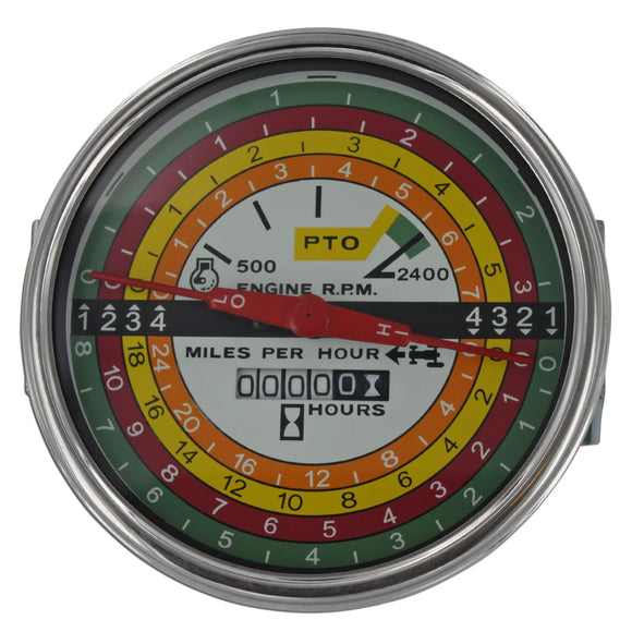 White Face Tachometer - Bubs Tractor Parts