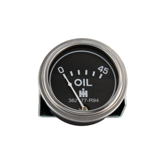 Oil Pressure Gauge (0-45 PSI) - Dash mounted - Bubs Tractor Parts