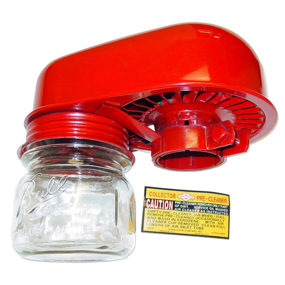 Donaldson Pre-Cleaner Assembly with glass dust jar - Bubs Tractor Parts