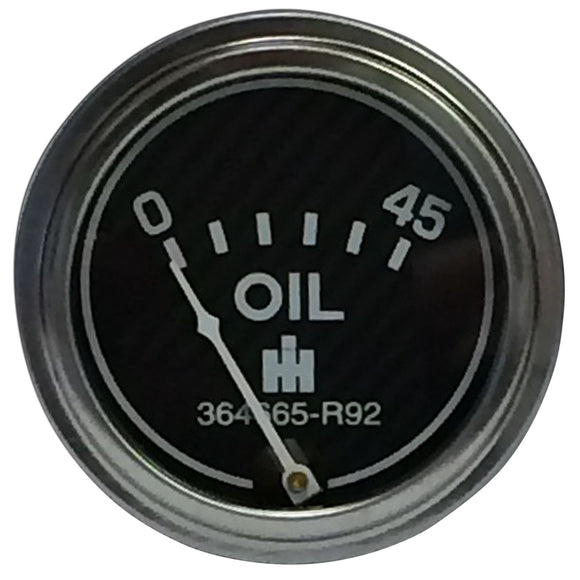 Oil Pressure Gauge (0-45 PSI) - Engine mounted - Bubs Tractor Parts