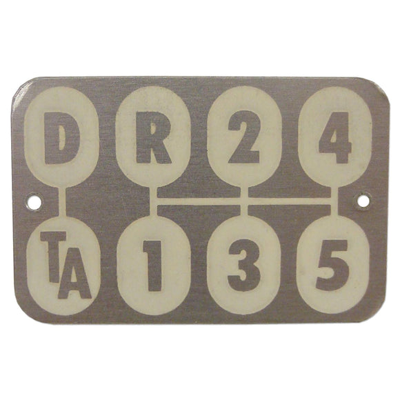 Transmission Shift Pattern Plate - Bubs Tractor Parts