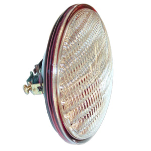 12-volt Sealed Beam Combination Rear Lamp w/ transparent red background using separate bulb - Bubs Tractor Parts