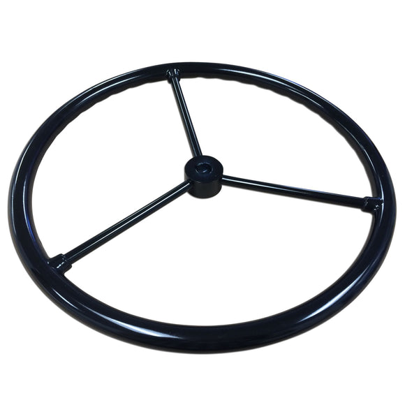 Steering Wheel-- Fits JD 2 Cylinder Models With 3 Bare Steel Spokes - Bubs Tractor Parts
