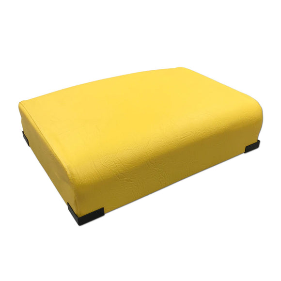 Bottom Seat Cushion, yellow vinyl with springs, like original! Fits John Deere 2 cylinder models - Bubs Tractor Parts