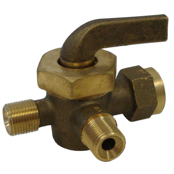 3 Way Fuel Valve -- Fits John Deere A, B, D, GP - Bubs Tractor Parts