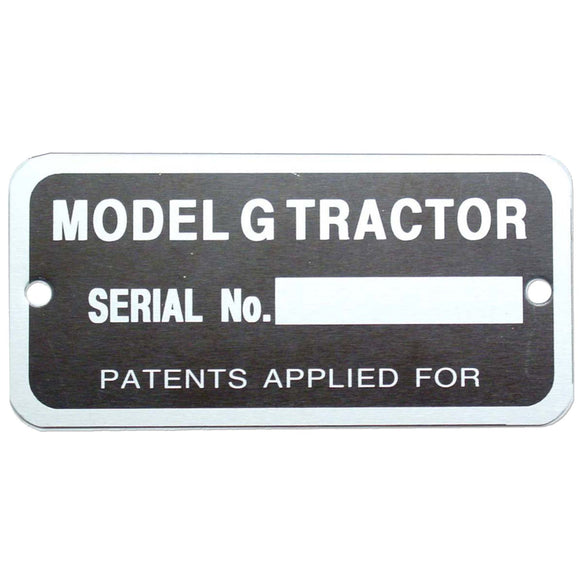 Serial Number Tag - Bubs Tractor Parts