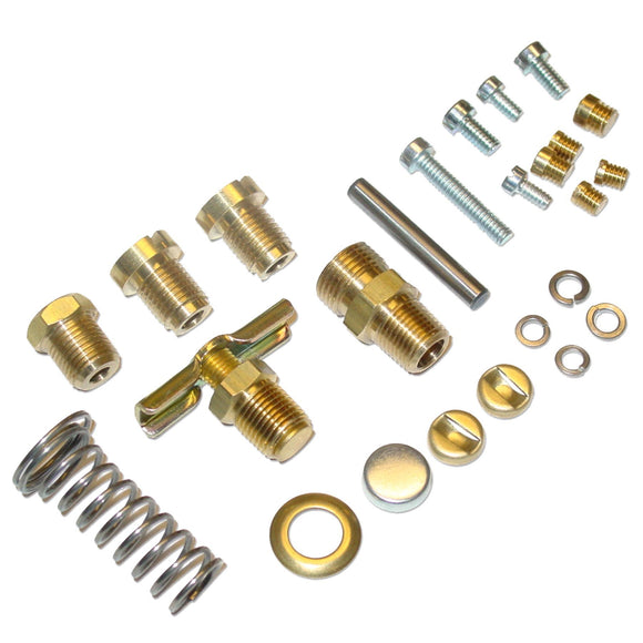 Single Induction 'Late' Carburetor Hardware Kit (no jets or nozzles included) - Bubs Tractor Parts